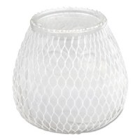 Frost White Euro Venetian Filled Glass Candles (12)