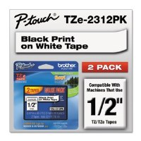 "Brother P-Touch 1/2"" Tape 2pk"