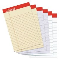 """Legal Pads Colored 5 """"x 8"""" (6)"""