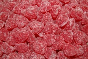 1 lb. Cherry Jelly Hearts