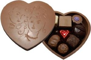 Milk Choc  Heart Box