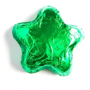 6 oz. Bag Milk Green Stars
