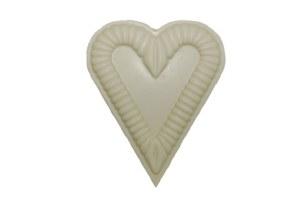 White Ruffled Heart