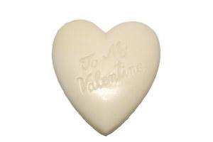 White Large Heart