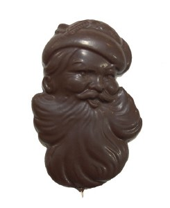 Lg Dark Santa Face Pop