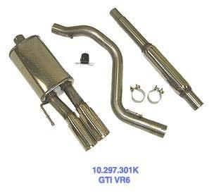 "2.5"" SS Exhaust, Jetta 3 VR6"