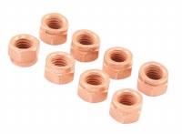 Exhaust Nut Copper - Set of 8