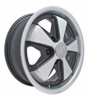 Alloy 911 Wheel 5/112 Blk/Slv
