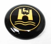Horn Button Black w/ Gold