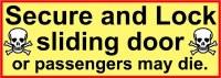 PASSENGERS MAY DIE DECAL