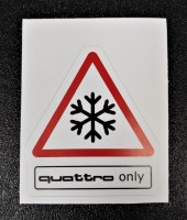 Quattro Only Clear Decal