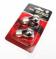 1156 Amber / Chrome Bulb Pair