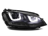 MK7 Double-U Headlights BLK