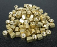 Exhaust Nuts. Brass Pack 100