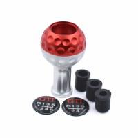 Shift Knob Aluminum Golf Ball Red