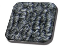 Rear Well Carpet T1 CONVERTIBLE 71-72 Charcoal Loop