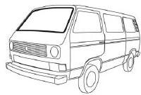Windshield Vanagon 80-91