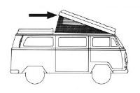 Pop Top Camper Seal T2 68-73