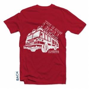 Kids Tshirt How I Roll Red YXL