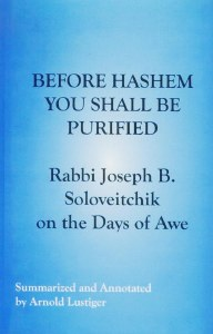 Before Hashem You Shall Purify