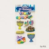 3D Chanukah Stickers
