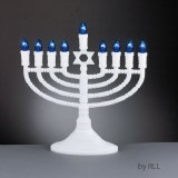 Deluxe White Electric Menorah