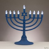 Battery Operated LED Menorah