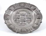 """Pewter Seder Plate - 15"""""""