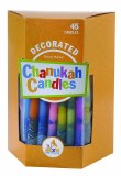 Decorated Chanukah Candles