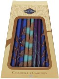 Safed Chanukah Candles Deluxe