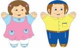 Boy &  Girl Jewish Hand Puppet
