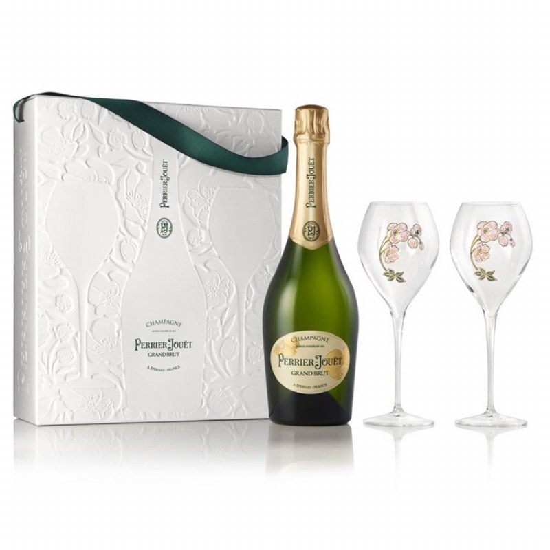 Perrier Jouet Grand Brut Gift Pack with Glasses 750ML
