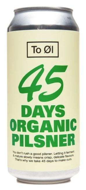 To Øl 45 Days Organic Pilsner Can 440ML