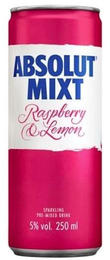 Absolut Mixt Raspberry & Lemon 250ML