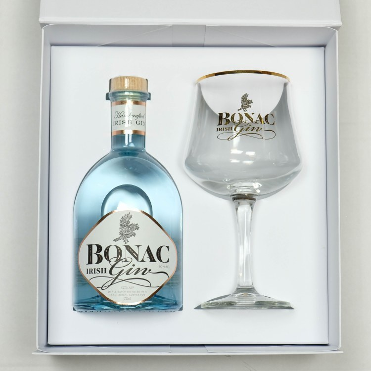 Bonac Irish Gin Glass Gift Pack700ML