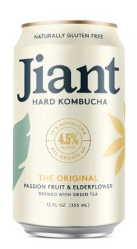 Jiant The Original Passionfruit & Elderflower Hard Kombucha 355ML