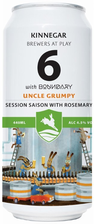 Kinnegar Brewing, Boundary Uncle Grumpy #6 Can 440ML