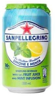 San Pellegrino Lemon & Mint Can 24x330ML