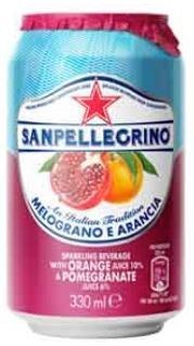 San Pellegrino Pomegranate & Orange Can 24x330ML