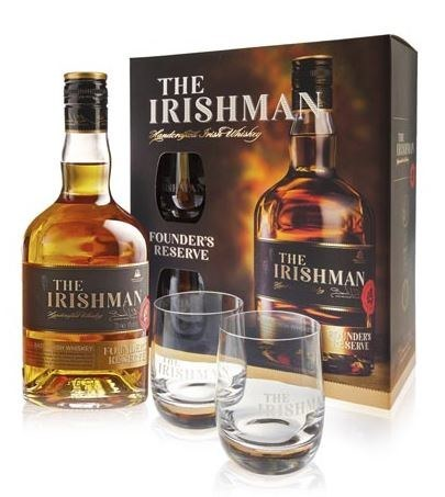The Irishman Founders Reserve Glass Gift Pack 700ML