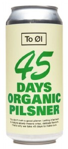 To Øl 45 Days Organic Pilsner Can 440ML