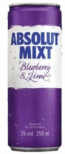 Absolut Mixt Blueberry & Lime 250ML