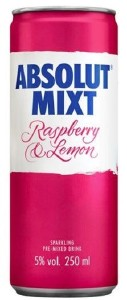 Absolut Mixt Raspberry & Lemon 250ML