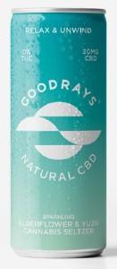Goodrays Elderflower & Yuzu CBD Drink 250ml