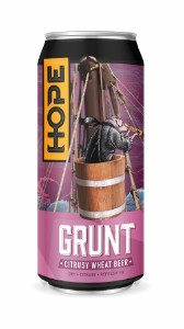 Hope Beer Grunt Citrusy Wheat Beer Can 440ML