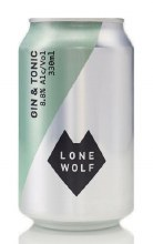 Lone Wolf Gin & Tonic Can 330ML