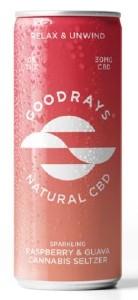 Goodrays Raspberry & Guava CBD Drink 250ML