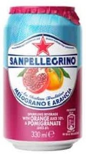 San Pellegrino Pomegranate & Orange Can 24x330ML