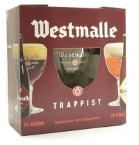 Westmalle Gift Pack 4 bottles & Glass