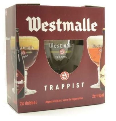 Westmalle Gift Pack 2 bottles & Glass